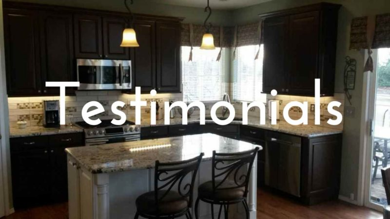 refinishing cabinetry testimonials